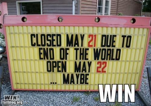 end of the world marquee signs the rapture - 4778407936
