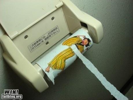 Bathroom Graffiti hacked toilet paper - 4778599936