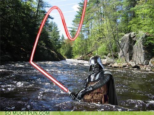 darth darth vader fishing fishing rod fly fishing lightsaber lord similar sounding sith wader wading - 4778891520