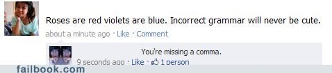 grammar roses are red commas failbook - 4778893056