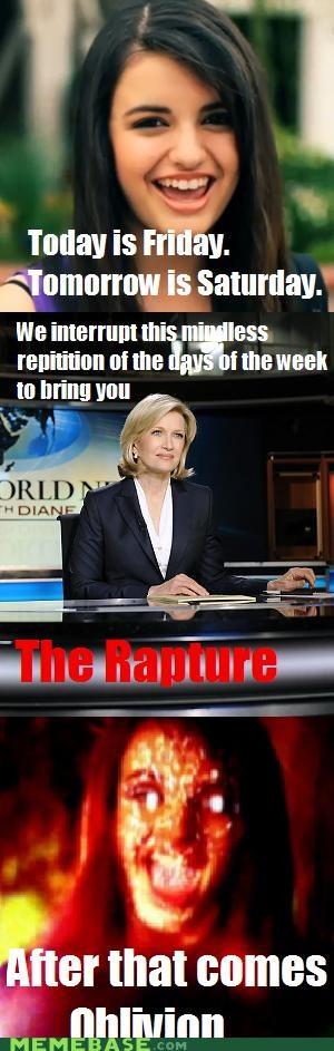 FRIDAY news oblivion RAPTURE Rebecca Black - 4779341824