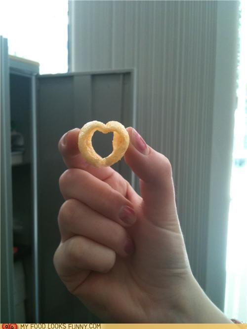 heart love potato chip ring salty snack - 4779472384