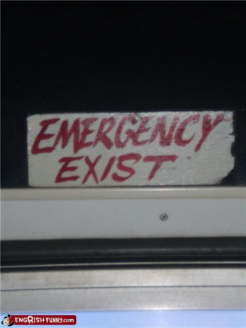 emergency exit sign warning - 4779600384