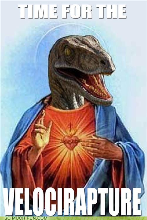 combination,contraction,Hall of Fame,portmanteau,raptor jesus,RAPTURE,time,tuesday,velociraptor