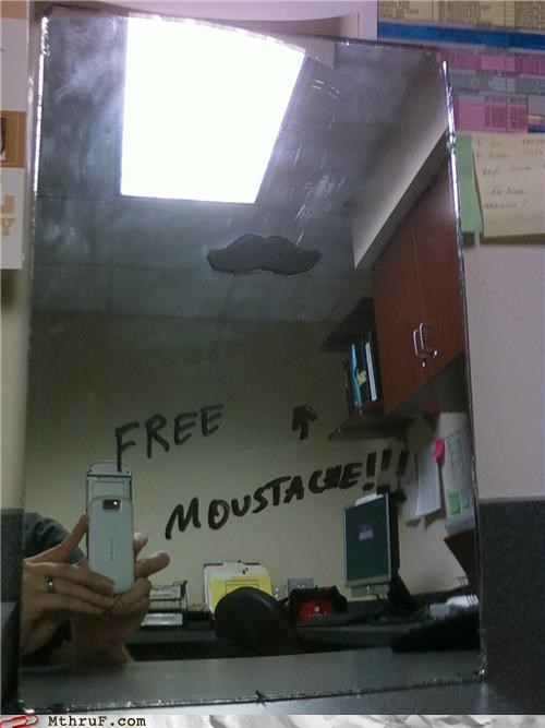 free,mirror,moustache