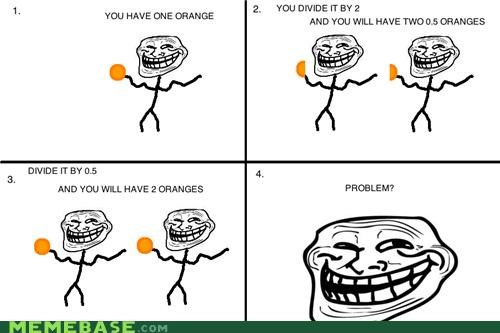 food,oranges,Rage Comics,troll science