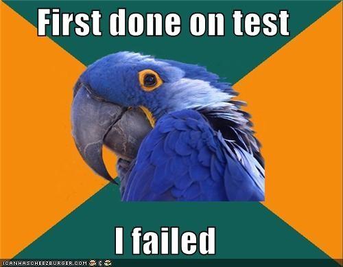 grades melvin Paranoid Parrot school tests - 4780435456