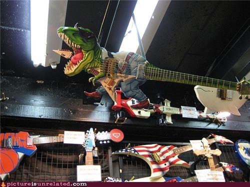 dinosaur guitar rock wtf - 4780509440