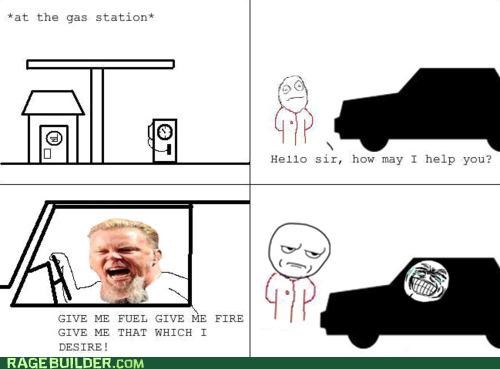 desire,fire,fuel,metallica,Rage Comics
