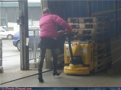 cross dressing,heels,leggings,skirt,warehouse