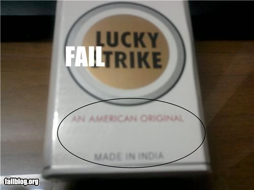 american cigarettes g rated lucky strike made in india product fail smoking