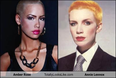 amber rose,annie lennox,eurythmics,models,musicians