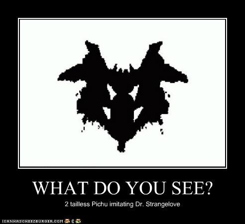 WHAT DO YOU SEE? 2 tailless Pichu imitating Dr. Strangelove