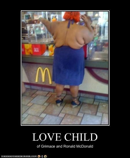 LOVE CHILD of Grimace and Ronald McDonald