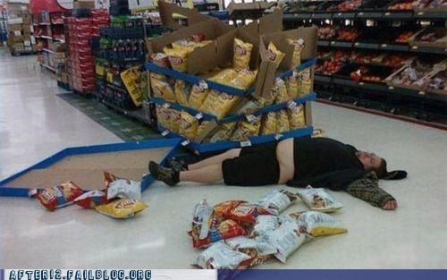 Lays,passed out,wal mart