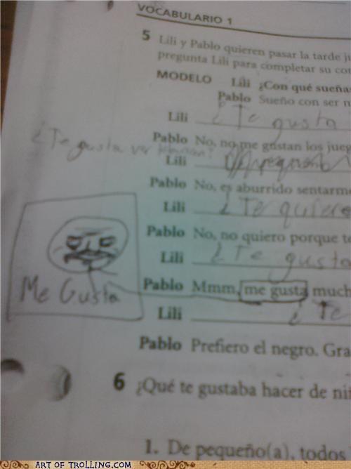 IRL me gusta spanish test