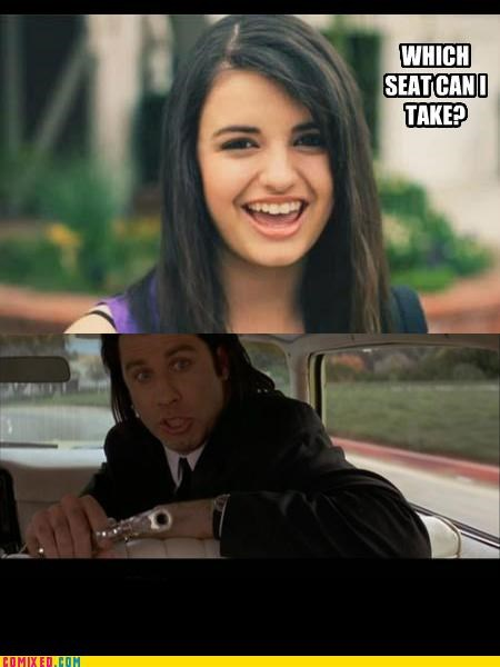 FRIDAY pulp fiction Rebecca Black the internets travolta - 4782924288