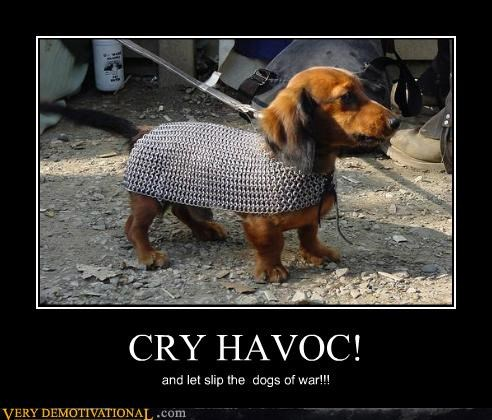 CRY HAVOC! and let slip the dogs of war!!!
