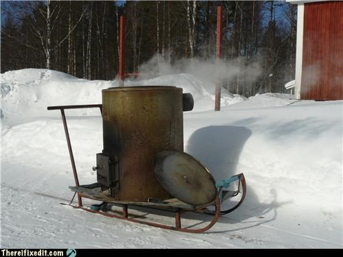 dangerous,Finland,Mad Science Monday,sled,snow