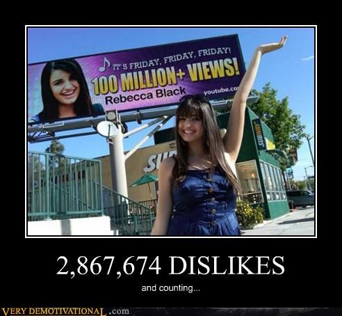 dislike horrible Rebecca Black Terrifying - 4784445696