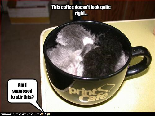 This coffee doesn't look quite right... Am I supposed to stir this?