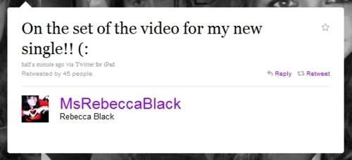 May 21,RAPTURE,Rebecca Black,tweet