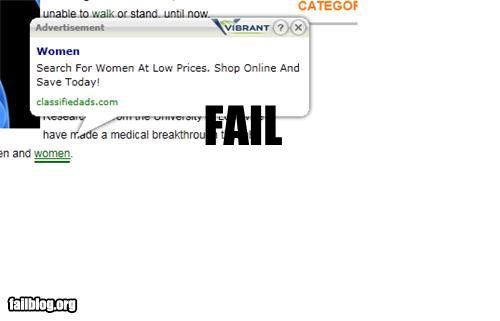 Ad failboat g rated internet obectify pop up women women amiright