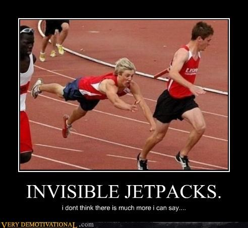awesome invisible jetpacks Pure Awesome race