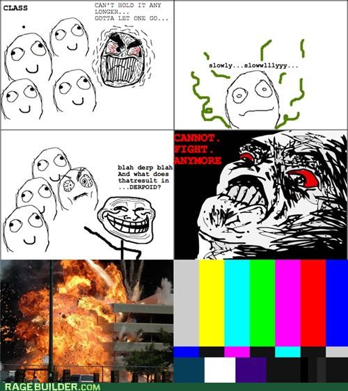 derp epic fight inevitable Rage Comics slowly