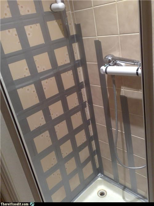 bathroom duct tape plumbing shower waterproof