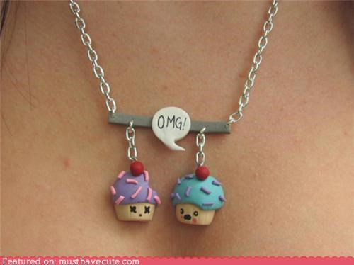 accessories bite cupcakes dead Jewelry necklace - 4787299840