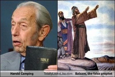 Balaam false prophet god Hall of Fame harold camping prophets RAPTURE religion the bible