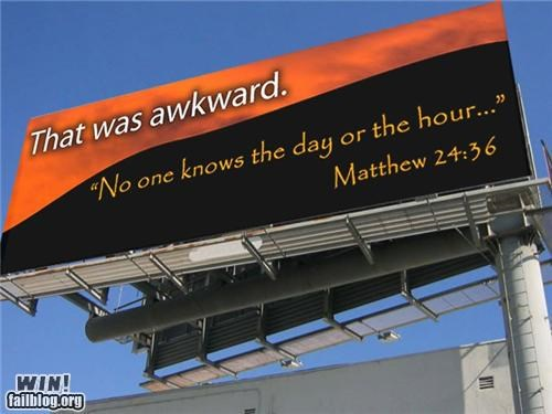 Awkward billboards the rapture