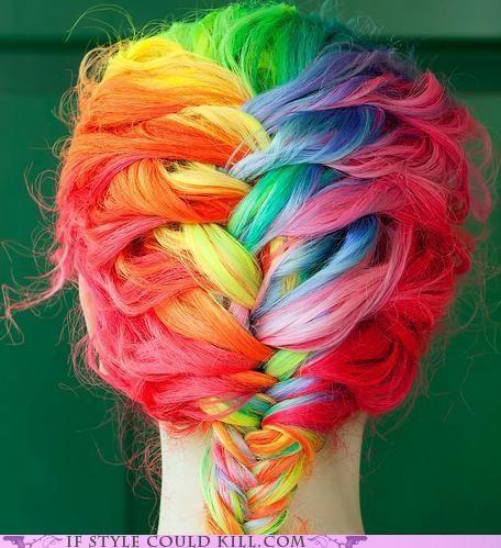 cool accessories hair rainbow - 4787879936