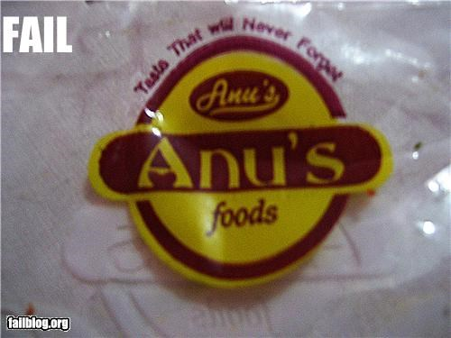 anus brand name butt failboat innuendo product name