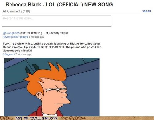 lol Rebecca Black rick roll youtube - 4788715008