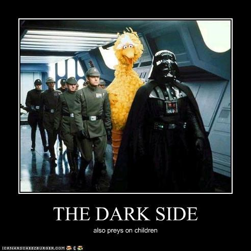 darth vader demotivational funny Movie sci fi Sesame Street shoop star wars - 4788815872