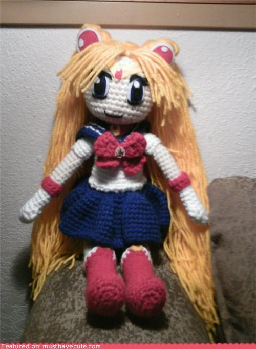 Amigurumi,character,Crocheted,sailor moon,yarn