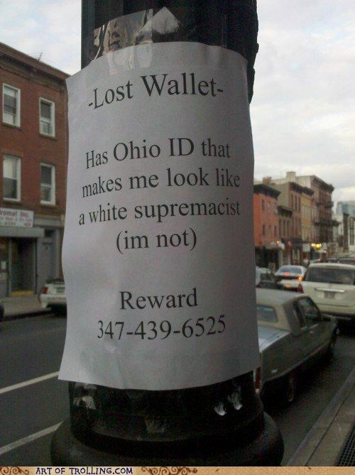 id,IRL,lost,wallet,white supremacist