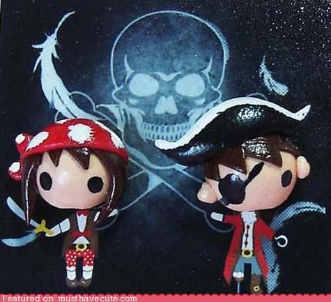 accessories boy earrings girl heads Jewelry kids pirates - 4790112512