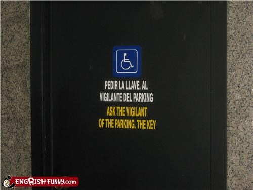 handicapped parking sign valet