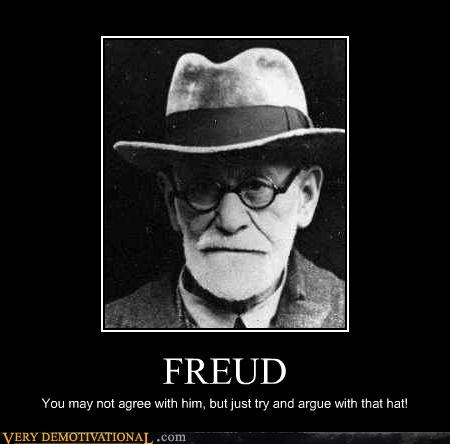 agree,freud,hat,hilarious,psychologist