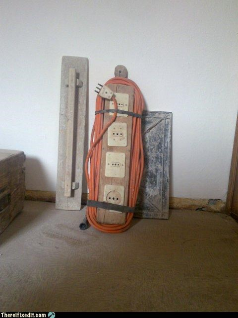 dangerous electricity homemade power strip wtf - 4790807296