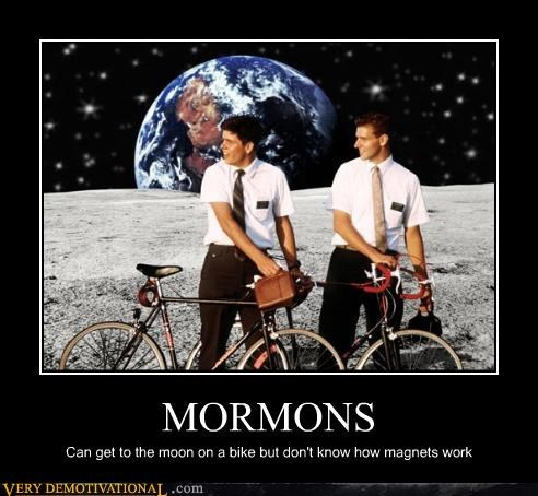 bike hilarious magnets mormons wtf - 4790886656