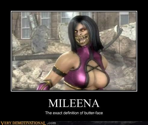 butter-face,hilarious,mileena,Mortal Kombat,video games