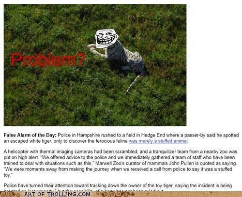 IRL police stuffed animal tiger - 4791295232