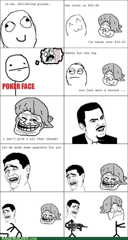 change grandma pizza Rage Comics tip true story - 4791486720