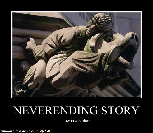 NEVERENDING STORY now in a statue.