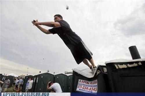 jumping,porta potty,preakness