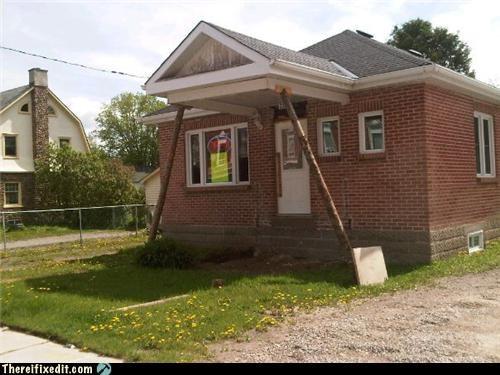 dangerous holding it up home improvement home repair precarious - 4791673088